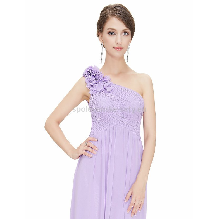 1df0c8e0ef2 Levandulové dlouhé společenské šaty na jedno rameno 44 XXL ...