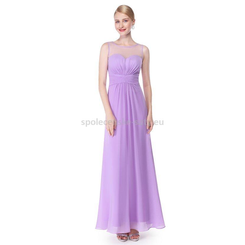 a61d2b619bfb Lila dlouhé společenské šaty na svatbu pro svědkyni družičky 38 M ...