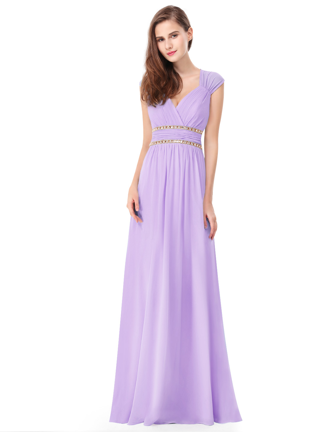 364acc34ce3 Levandulové dlouhé společenské šaty ve stylu řecké bohyně 40-42 ...