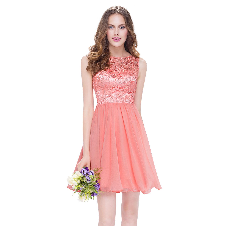 e6c5337012d Lososové krátké plesové šaty s baletkovskou sukní 42 XL