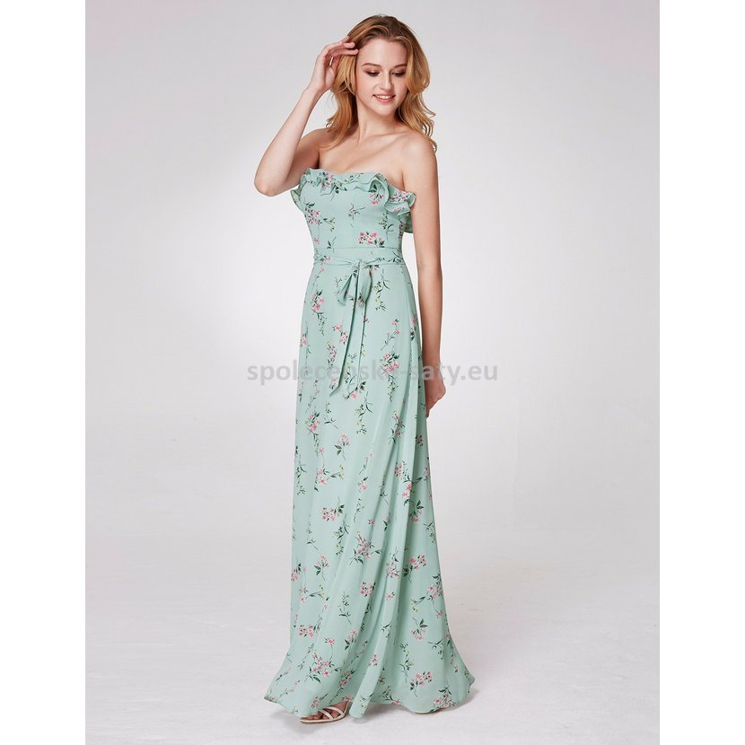 5b9dd4f35c98 Zelené světlé mintové dlouhé letní šaty na svatbu 38-40