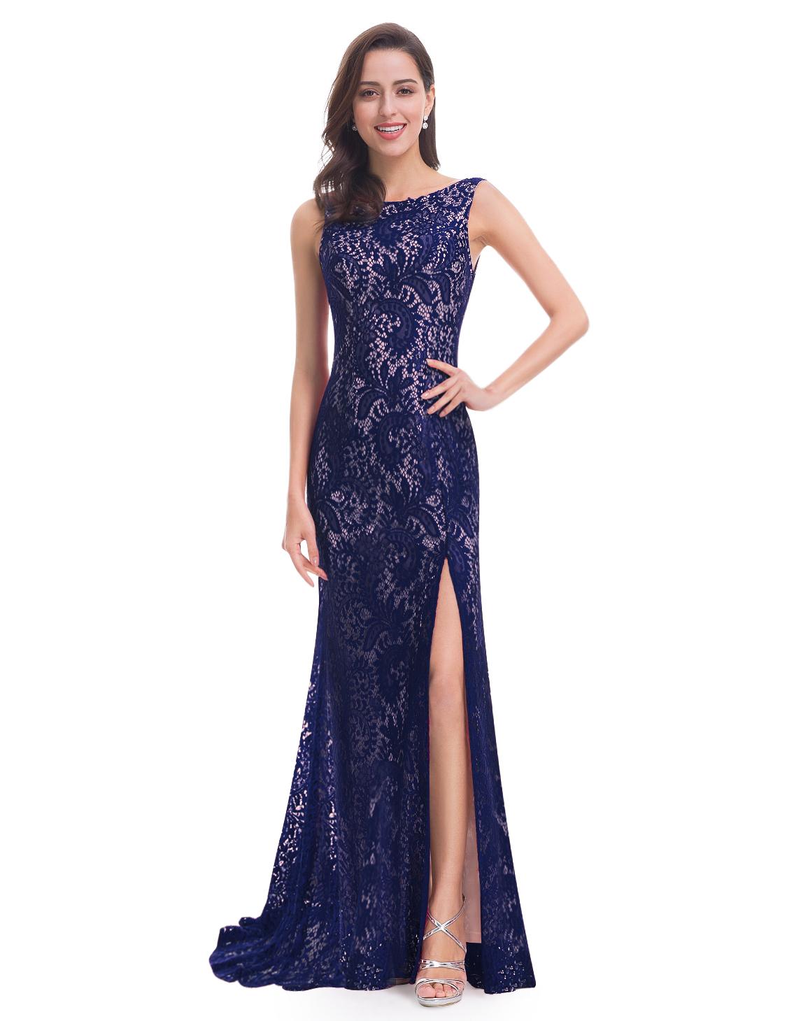 Modré šaty na svatbu ples lux  07c175929ba