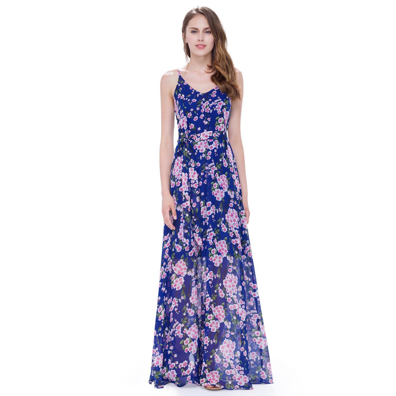 Modré dlouhé letní plážové šaty i pro těhotné 38 M  c42973a13f