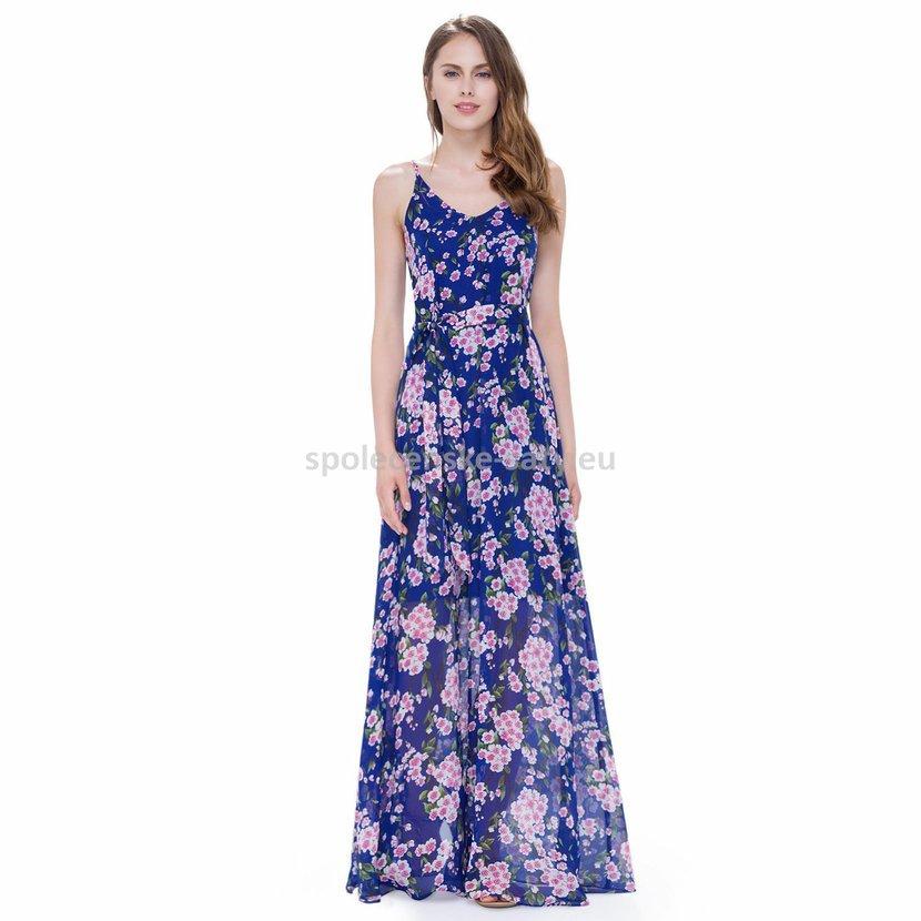08f1cda3c46 Modré dlouhé letní plážové šaty i pro těhotné 40-42