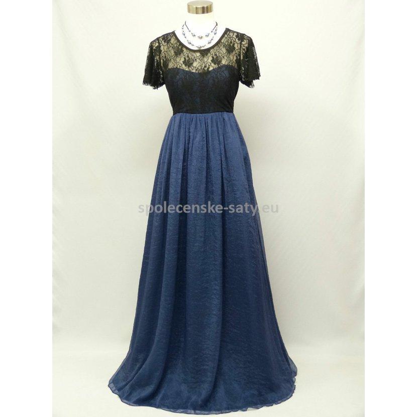 c078aeb39cc8 Společenské plesové šaty s rukávem pro plnoštíhlé 46