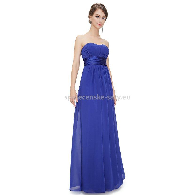 147fd52bed4a Modré dlouhé společenské šaty na svatbu pro družičku svědkyni 46 ...
