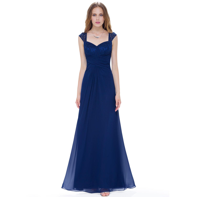 Tmavé modré večerní společenské plesové šaty 34-36  a73f59478ee