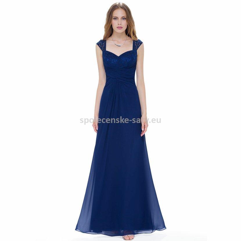 Tmavé modré večerní společenské plesové šaty 34-36  290b75413a