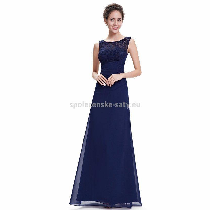 b13530d56e5 Modré dlouhé společenské šaty na ples svatbu 46 XXXL
