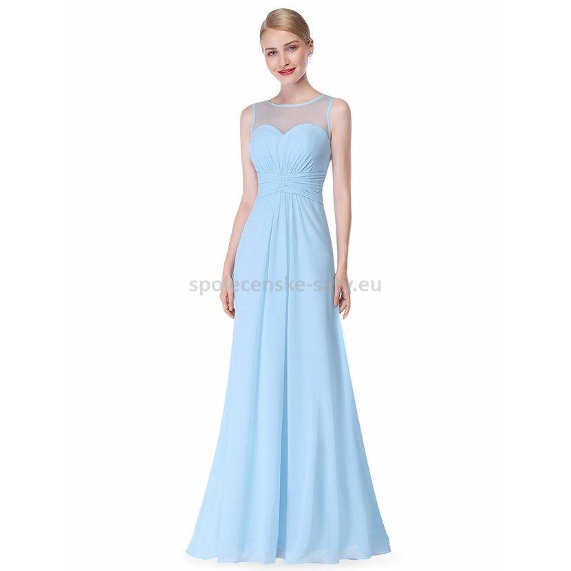 Bledě modré dlouhé společenské šaty 42 XL na svatbu družička  90110e2886