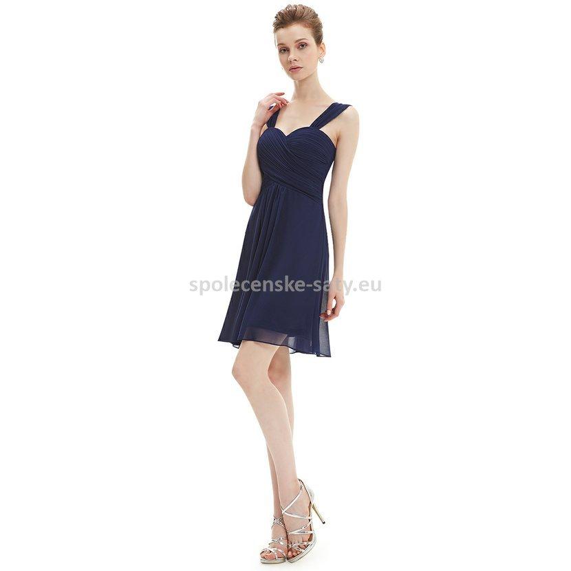 4323fcffeb3 Modré tmavě krátké společenské šaty na svatbu koktejlky 46 XXXL ...