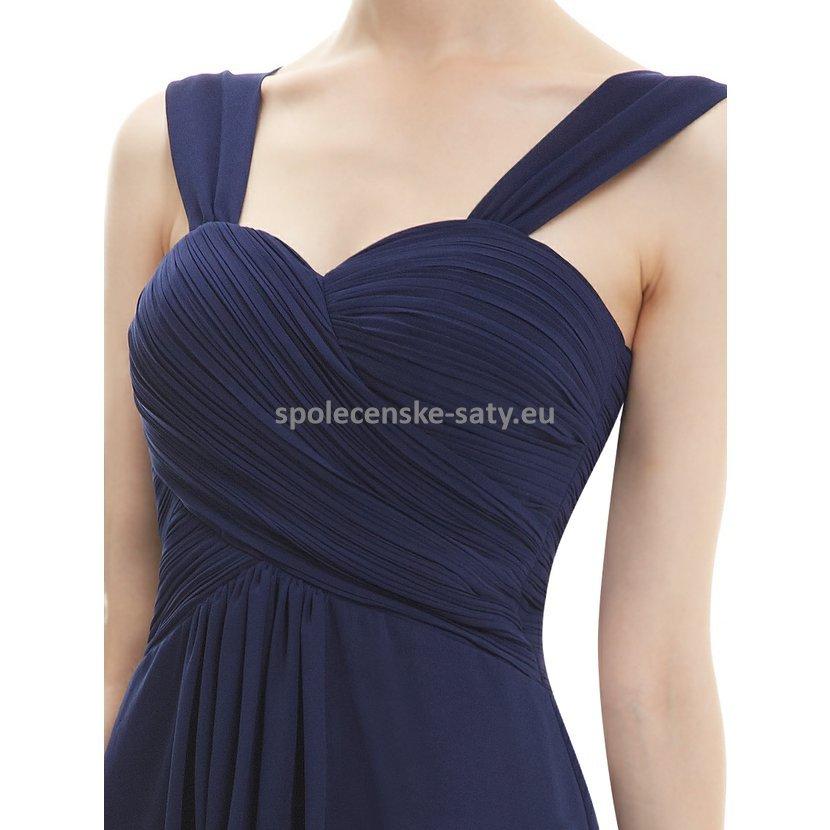 7dbfa292460d Modré tmavě krátké společenské šaty na svatbu koktejlky 46 XXXL ...