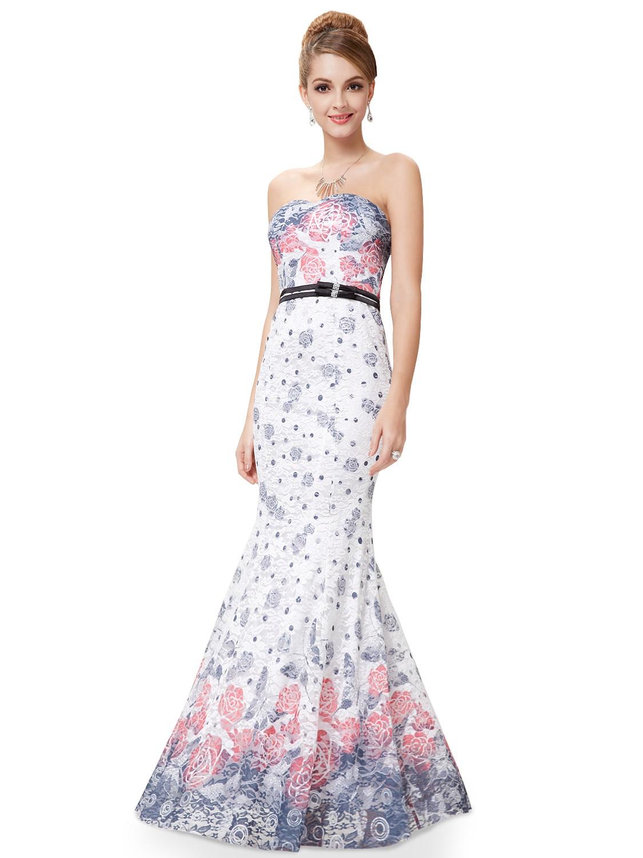 Bílé dlouhé krajkové šaty pouzdrové letní s potiskem 40 L ... 4fbc5ad0f4