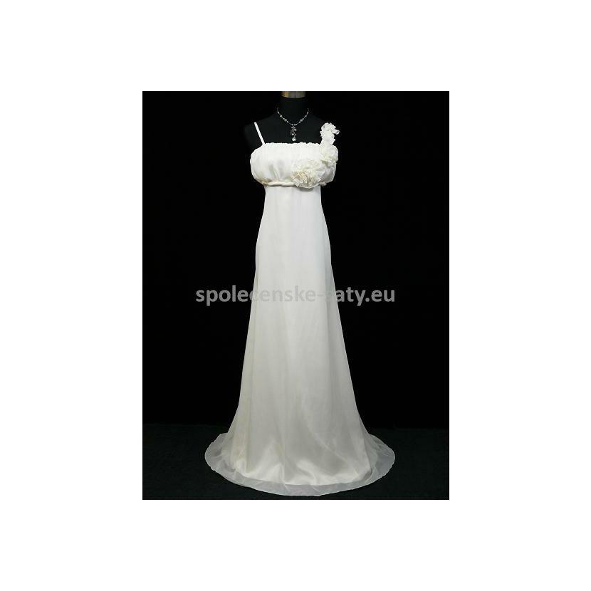 Šampaň dlouhé svatební společenské šaty i pro těhotné 36-38 S-M ... 3b4b635c28