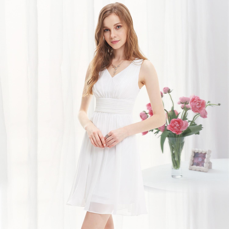 3eef9b60da9 Bílé krátké svatební šaty společenské na hrubší ramínka pro nevěstu  družičku 44 XXL