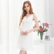 214bc3641efc Bílé krátké společenské svatební šaty na jedno rameno i pro těhotné ...