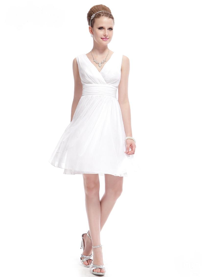 fd4b1f379af Bílé krátké svatební šaty společenské na hrubší ramínka pro nevěstu  družičku 46 XXXL