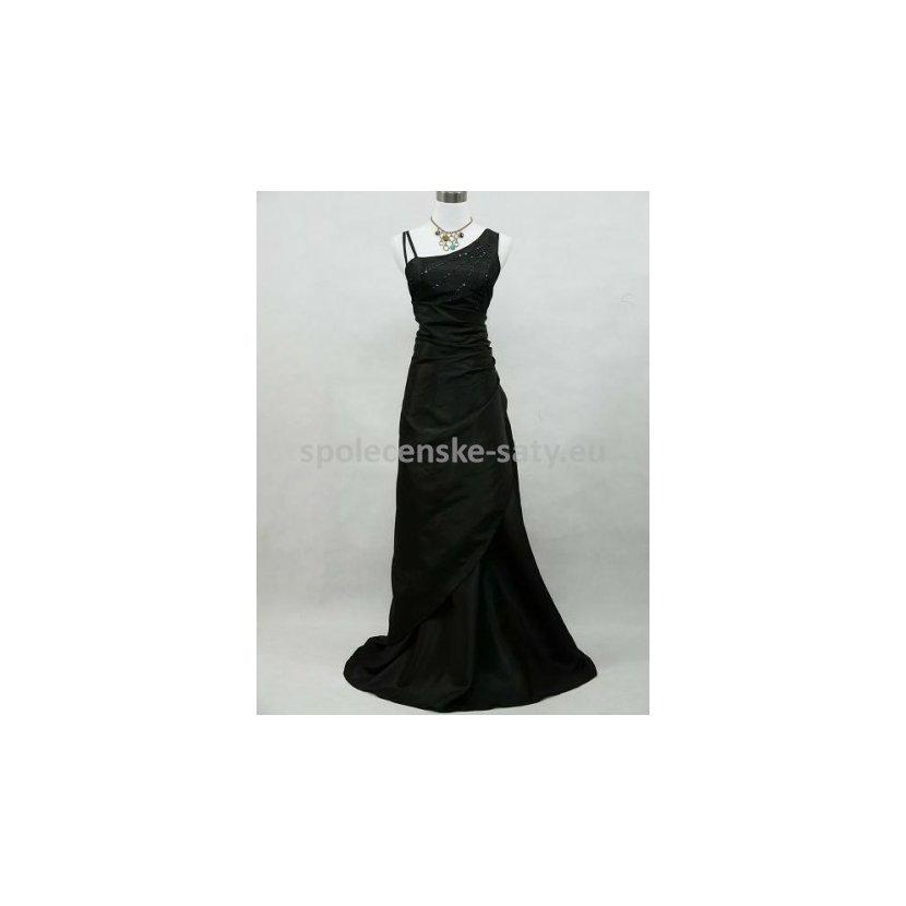 1a8465c98b37 Černé dlouhé společenské svatební plesové šaty pro plnoštíhlé 48-50 ...