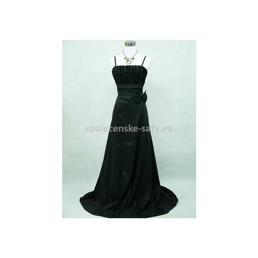 Černé dlouhé plesové šaty nadměrné 48-50  c659e26386