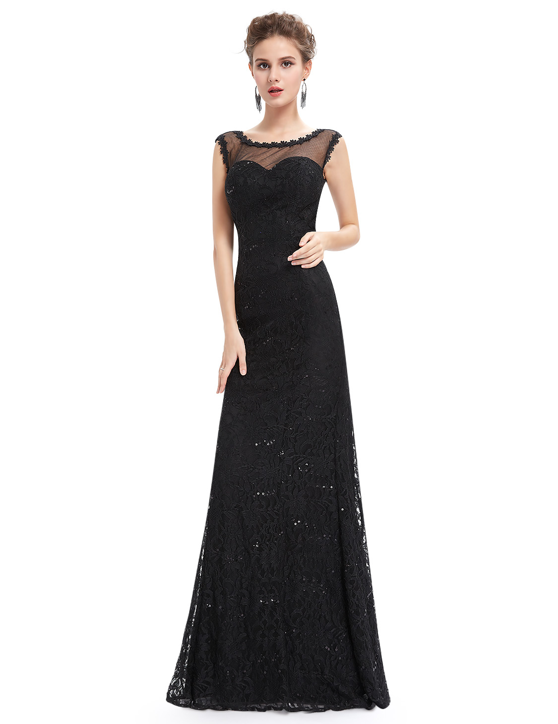7a2c5e71faf Sexy černé dlouhé šaty s holými zády 42 xl
