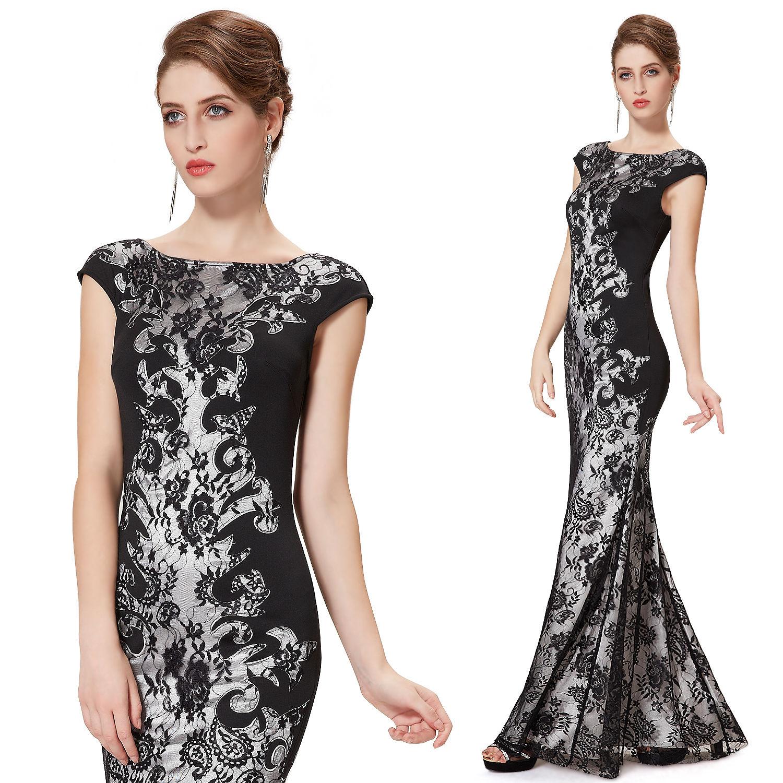 Černé dlouhé luxusní šaty s rukávkem na svatbu ples do opery 36 S ... 22feba549de