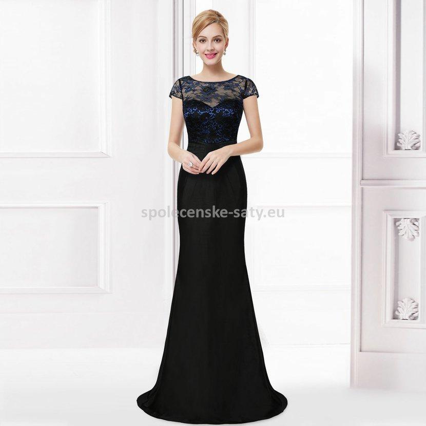 74ac31e389cd Černé krajkové zeštíhlující šaty pro plnoštíhlé 42