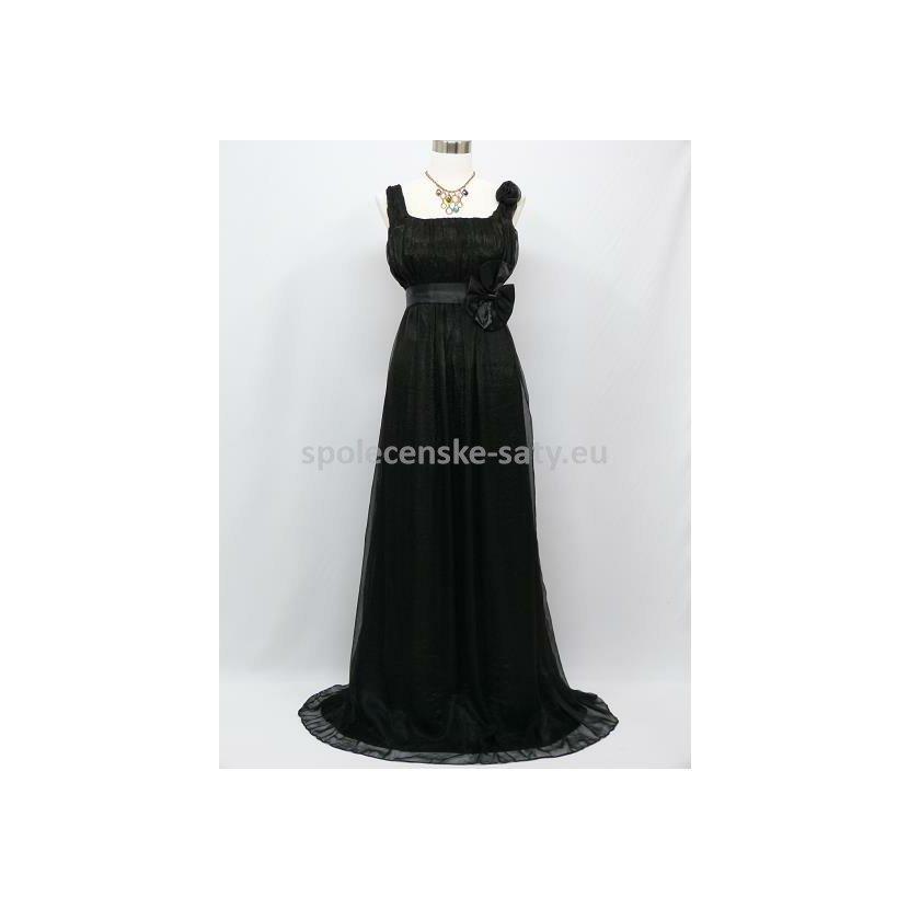 Černé šifonové šaty řecký styl nadměrná velikost i pro těhotné 48-50 ... 41a7306a07