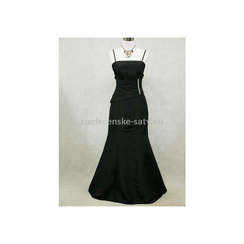 897566a84af0 Černé dlouhé elegantní šaty pro matku nevěsty ženicha zeštíhlující 50-52