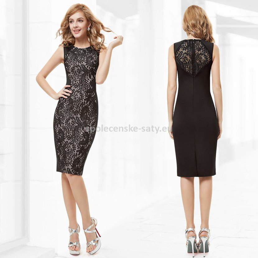 Černé krátké šaty koktejlky s krajkou hrubší ramínka 36 S ... 4339391ff0c