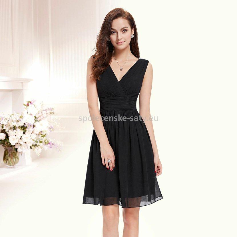 831f6061e027 Černé krátké elegantní šaty na hrubší ramínka pro plnoštíhlé 46 XXXL ·  elegantní koktejlové šaty do tanečních na ples ...