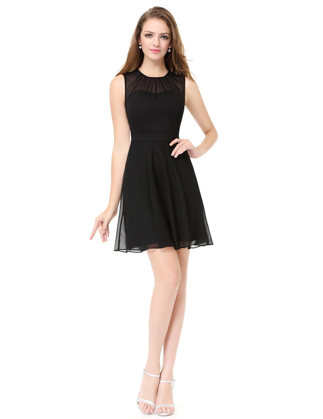 e570e028e92d Černé krátké společenské šaty na svatbu do divadla tanečních 42 XL ...