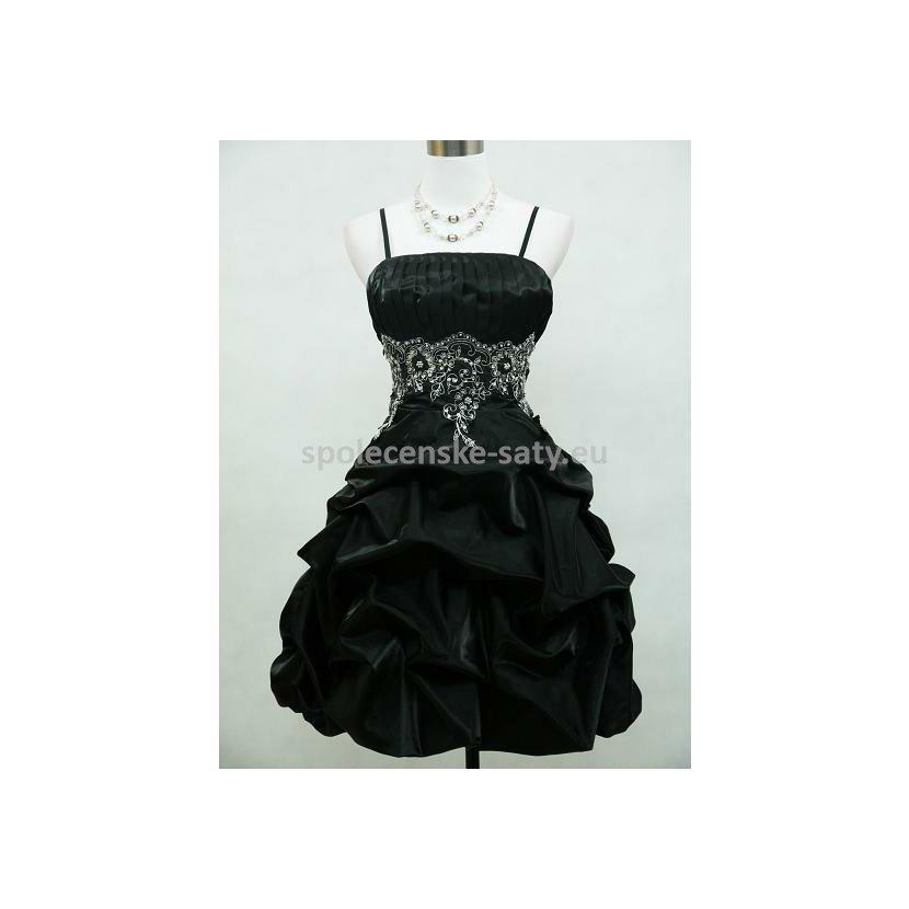 Černé krátké plesové šaty i na svatbu či tanečních 52-54 ... 172c301bb0