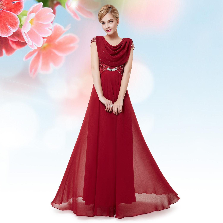 Vínové dlouhé společenské šaty s rukávkem na ples 34 XS Společenské šaty a  svatební šaty SALON MIERVA Ostrava  57ef022fd6