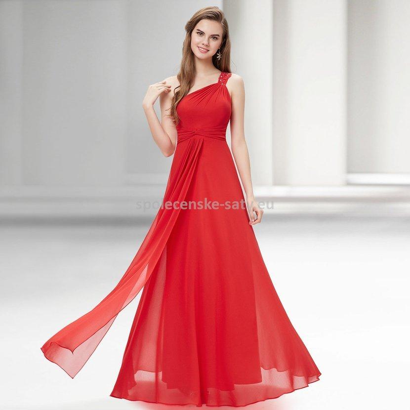 Červené dlouhé šaty na ples na svatbu do tanečních 44 XXL ... 1b06bd9002