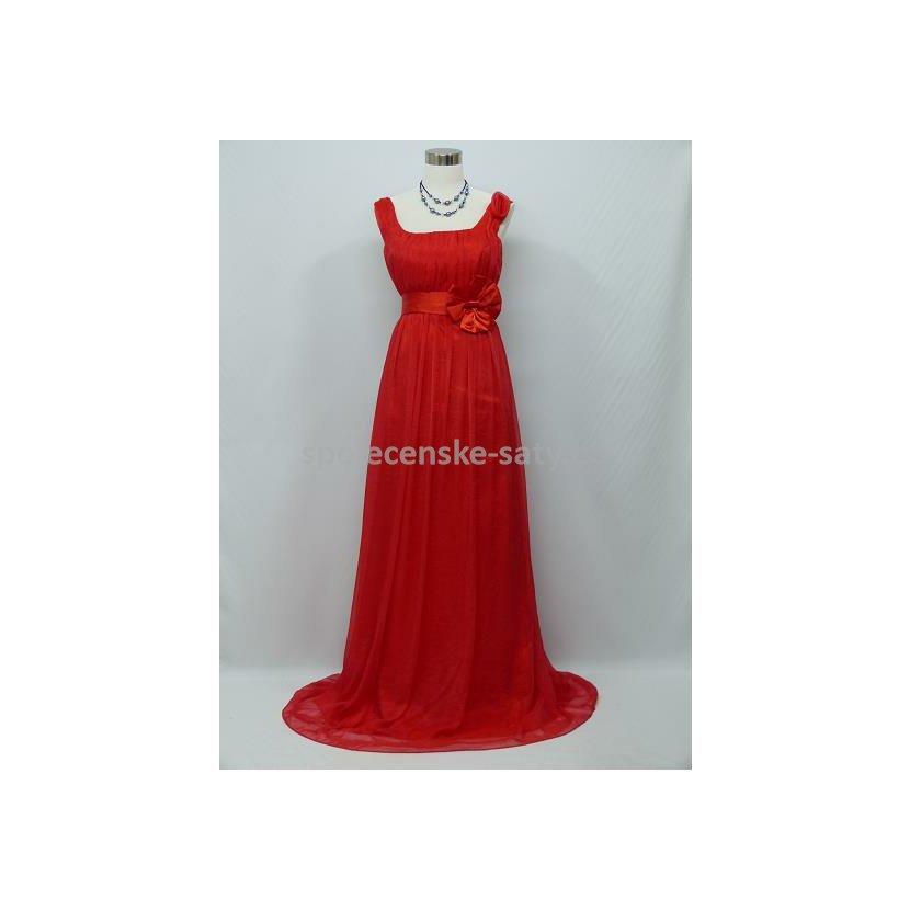 50c418d183e Červené dlouhé šifonové šaty empírové i pro těhotné v nadměrné ...