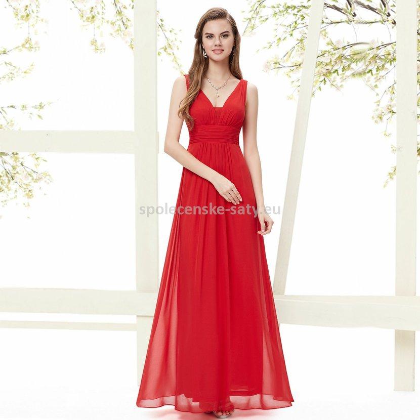 aa31cdad3d7 Červené dlouhé šaty na hrubší ramínka na svatbu i pro těhulky 36-38 ...
