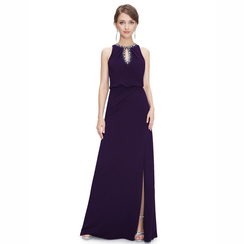 Tmavé večerní šaty fialové na svatbu 44 XXL  dd51170a677