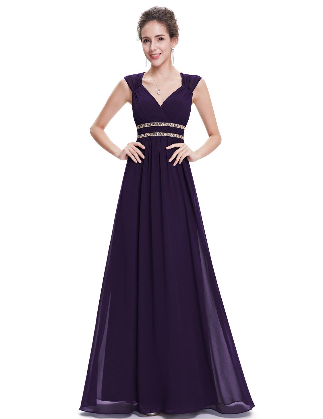 81257b1dac4 Fialové dlouhé společenské šaty ve stylu řecké bohyně 36 S ...