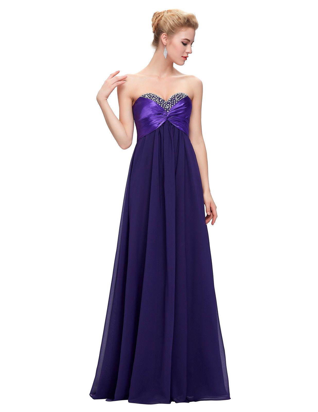 732423ea881 Fialové dlouhé plesové šaty korzetové bez ramínek 34 XS ...