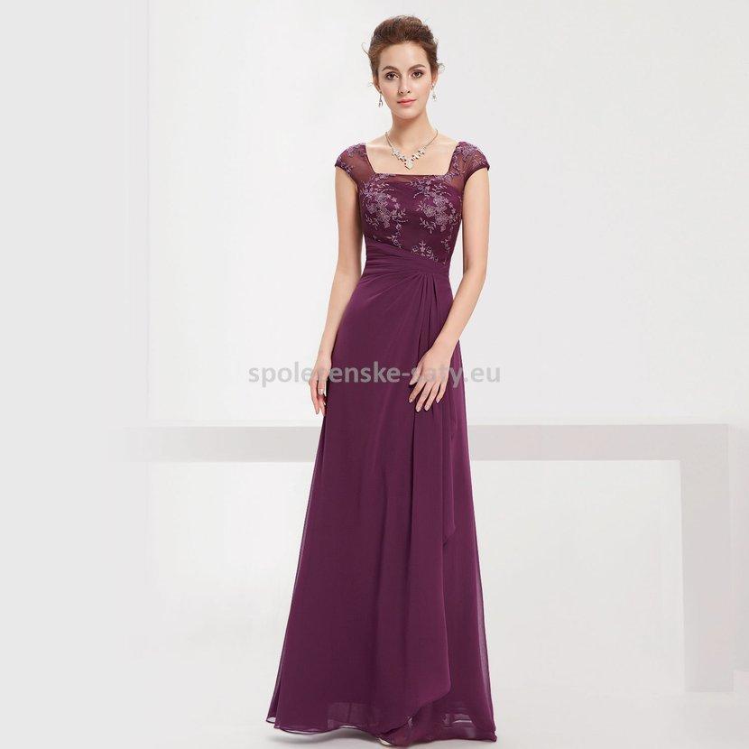 Fialové dlouhé luxusní večerní šaty na ples či pro svatební matky 34 ... 766492258da