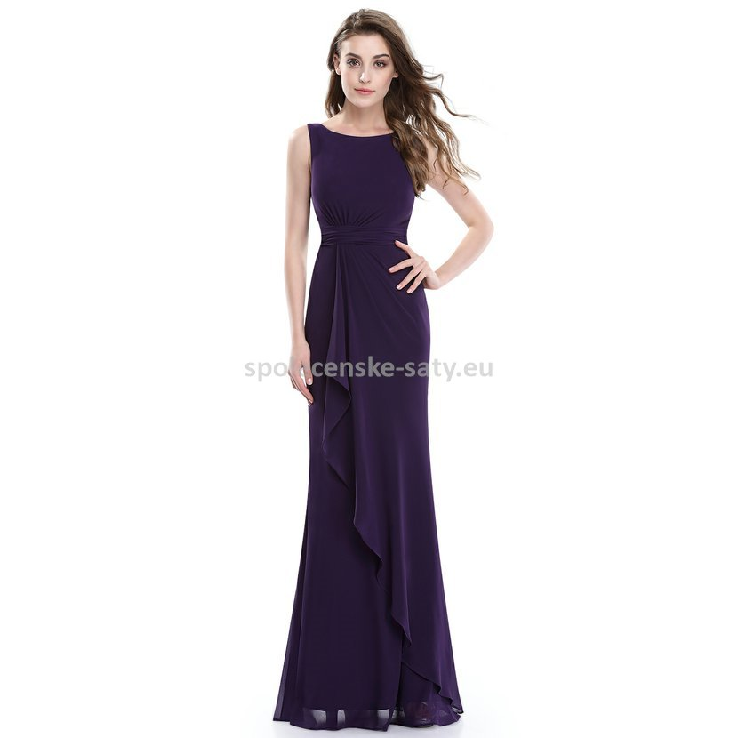 6457ae74bb5 Fialové dlouhé společenské šaty zeštíhlující 46 XXXL