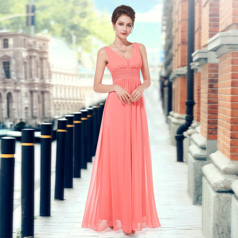 0430f5a10d11 Lososové korálové šaty na ples svatbu taneční