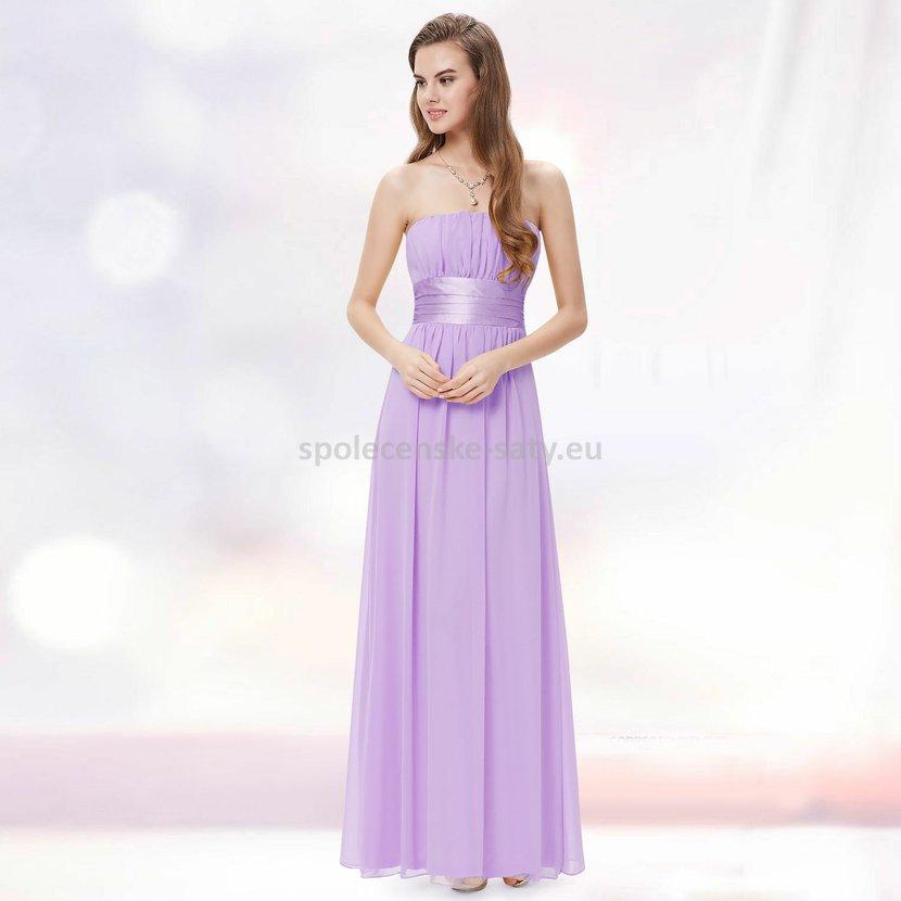 Levandulové dlouhé společenské šaty na svatbu pro družičku svědkyni 44 XXL 6def30bf85