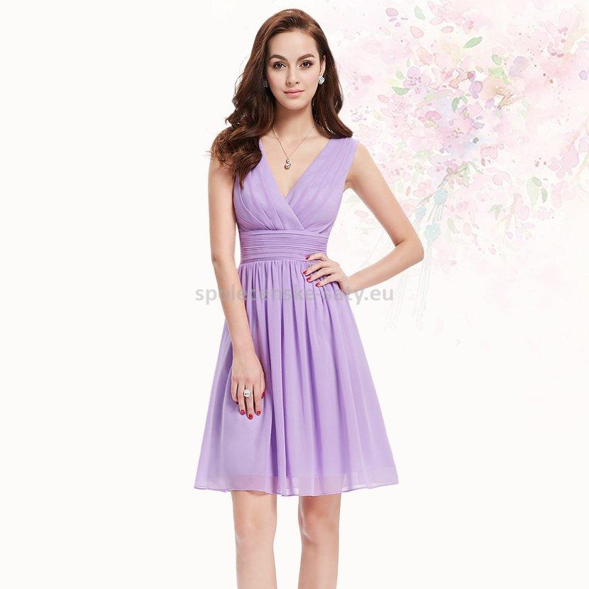 Lila krátké šaty společenské na hrubší ramínka pro svědkyni 42 XL ... ad0b87a521