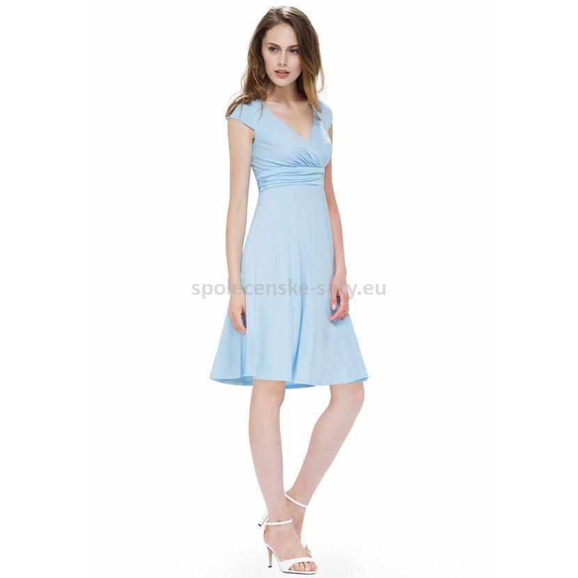 Modré světlé krátké šaty strečové víceúčelové 44 XXL  504b32cc82