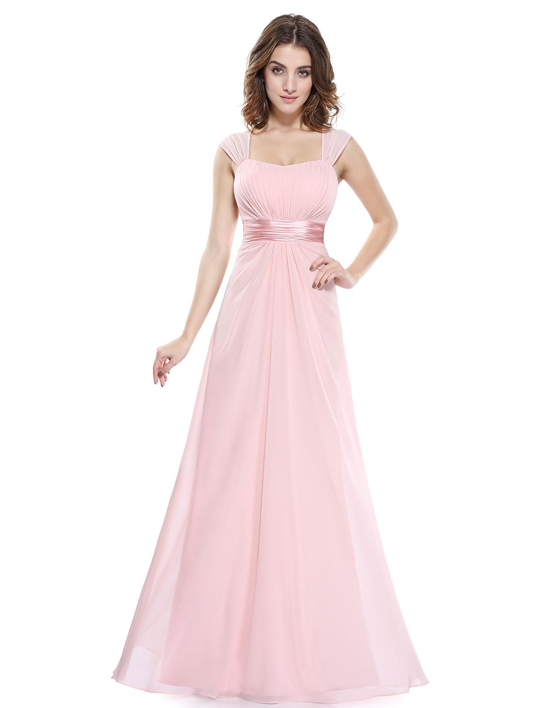 2e25114bb2b Růžové dlouhé společenské šaty pro svědkyni družičku na svatbu 40-42 ...