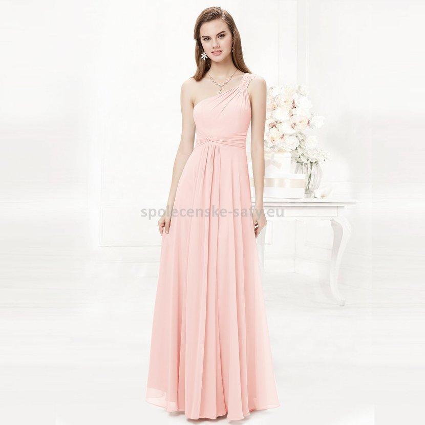 24cb7cef0541 Růžové dlouhé šaty na ples na svatbu do tanečních 40 L