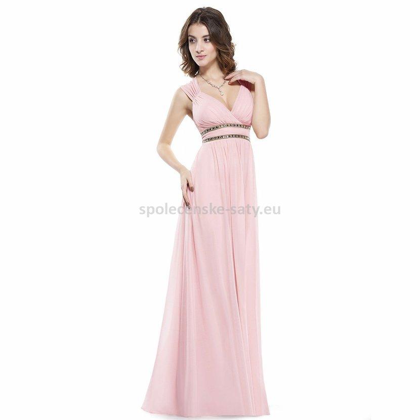Růžové dlouhé společenské šaty ve stylu řecké bohyně 42 XL ... 19d2822ce1e