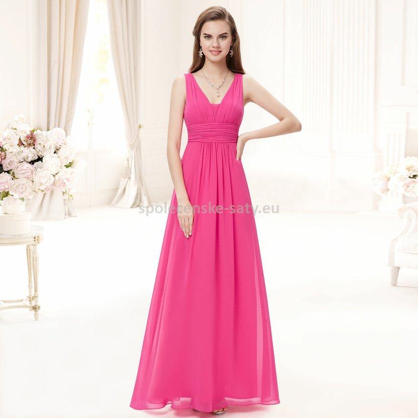 Růžové dlouhé šaty na hrubší ramínka na svatbu i pro těhulky 46 ... 62fa38be1b