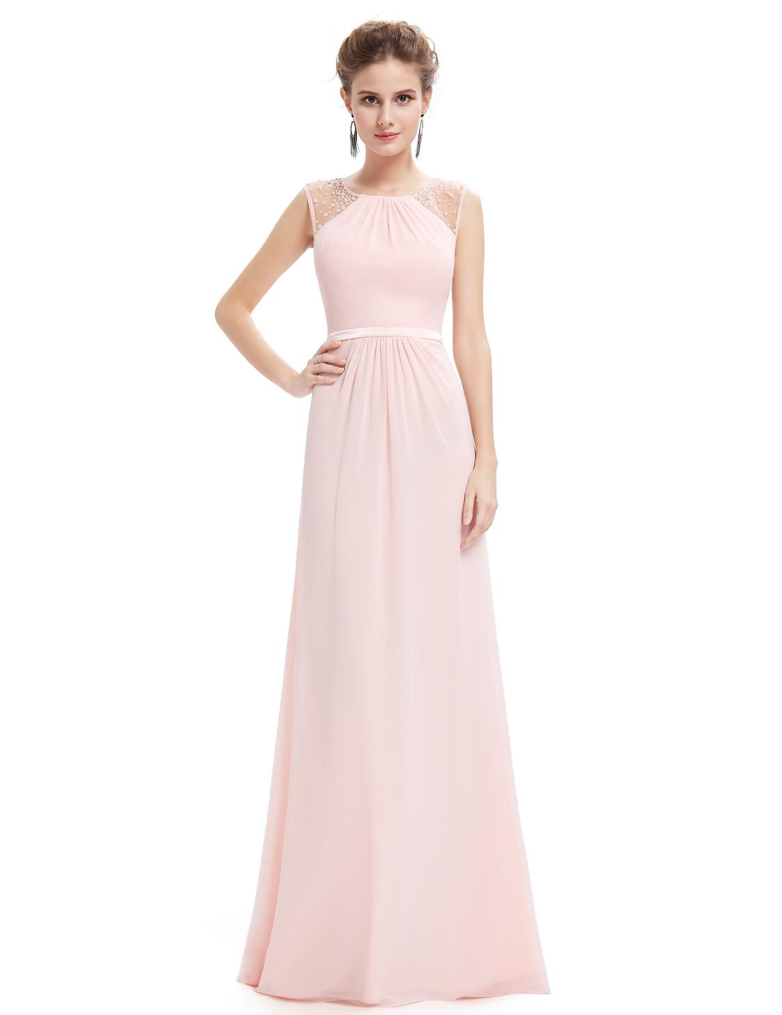 Růžové dlouhé společenské svatební šaty na hrubší ramínka 38 M ... 79d19b40f2